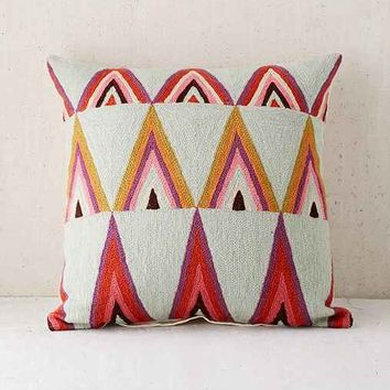 Assembly Home Mifflo Crewel Triangle Pillow