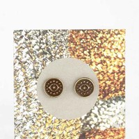 Etched Eye Gift Card Earring- Gold One