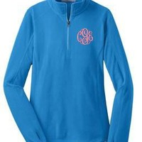 Monogrammed Summer-Weight MIcrofleece | Ladies Wear | Marley Lilly