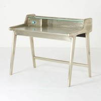 Silvered Writing Desk by Anthropologie Silver One Size Furniture