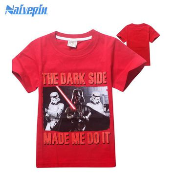 2017 Summer Boys Girls Clothing T-shirt Star War Tshirt Children's Short sleeve T Shirts Kids clothes roupas infantis menino