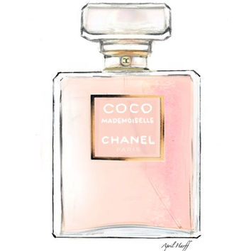 Coco Chanel Perfume Drawing