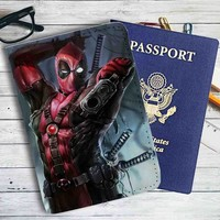 Deadpool Shoot Marvel Leather Passport Wallet Case Cover