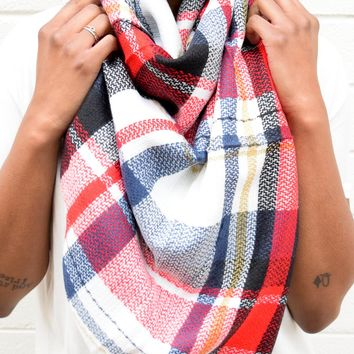 White Multi Blanket Scarf