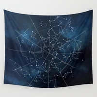 Celestial Map Wall Tapestry by Rose's Creation