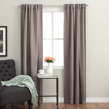 Insulated Back Tab 96-inch Blackout Curtain Panel Pair | Overstock.com Shopping - The Best Deals on Curtains