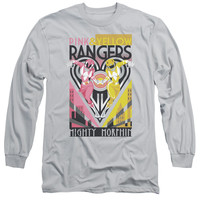 POWER RANGERS/PINK & YELLOW DECO-L/S ADULT 18/1-SILVER