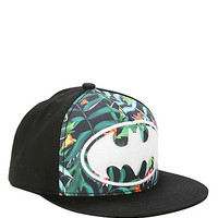 DC Comics Batman Tropical White Logo Snapback Hat