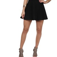 Black One More Skater Skirt