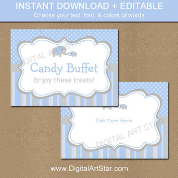 5x7 Sign - Candy Buffet Sign - EDITABLE Sign - Printable Baby Shower Sign - Table Sign - Poster - Instant Downlaod - Printable Sign