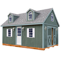 Shop Best Barns Arlington with Floor Gable Wood Storage Shed (Common: 12-ft x 24-ft; Interior Dimensions: 11.42-ft x 23.17-ft) at Lowe's