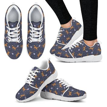 Space Golden Retriever Athletic Sneakers