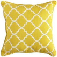 Cabana Geometric Pillow - Lemon