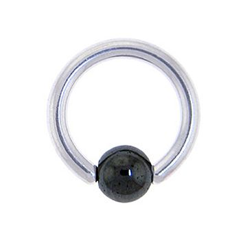 "14 Gauge BCR Hematite Captive Ring 5/16"" 5mm"