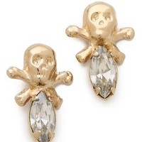 Bing Bang Memento Mori Skull Stud Earrings | SHOPBOP