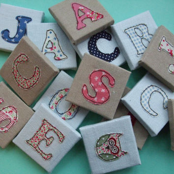 Childrens Name Letters - Pink - Mini Canvas Nursery Decor