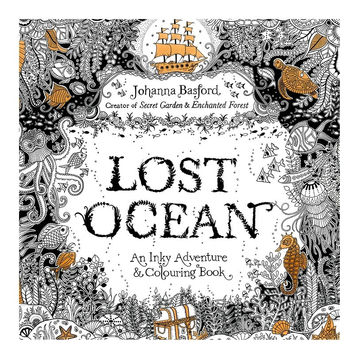 Coloring Lost Ocean Book Books for Adults Kids Antistress Books Antistress Mandala Secret Garden Quiet Color Drawing Art 24Pages