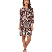 Christin Michaels Susan Print Shift Dress