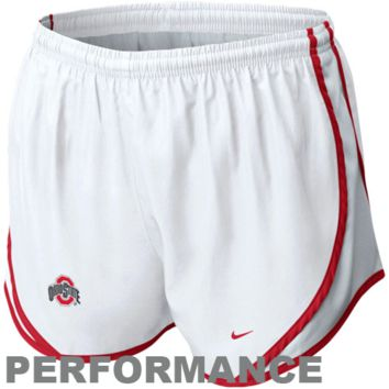 Nike Ohio State Buckeyes Ladies Tempo Performance Shorts - White