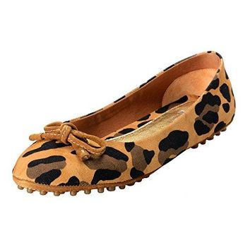 Car Shoe by Prada Women's Canvas Ballet Flats Driving Shoes US 36.5 IT 37.5