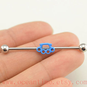 WEAPON industrial barbell piercing, industrial barbell earring jewelry, WEAPON ear jewelry,friendship jewelry,oceantime