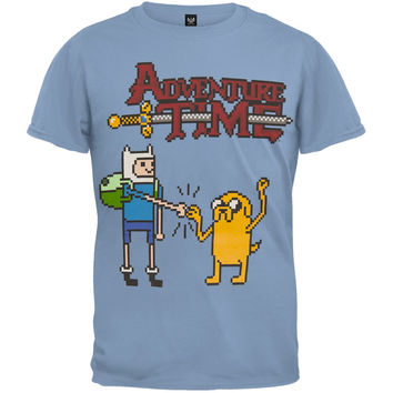 Adventure Time - Finn & Jake Blocked Youth T-Shirt