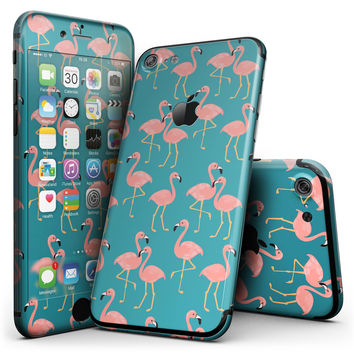Tropical Flamingo v2 - 4-Piece Skin Kit for the iPhone 7 or 7 Plus
