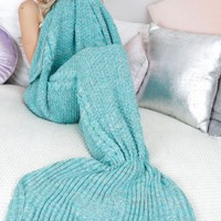 Mermaid Blanket In Turquoise