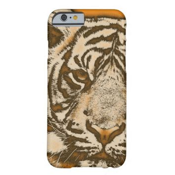 Grunge Orange Abstract Tiger Barely There iPhone 6 Case