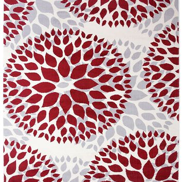 5199 Red Medallion Contemporary Area Rugs