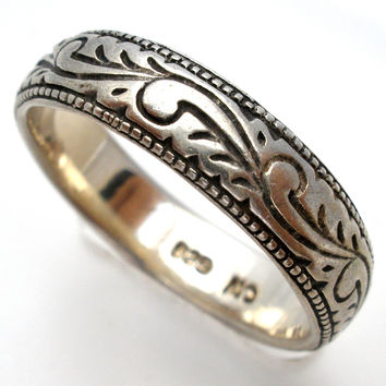 Sterling Silver Wedding Band Thumb Ring Size 8