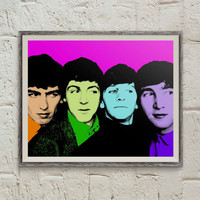 Beatles Poster, Pop Art Portrait, Andy Warhol Art, Beatles Art, John Lennon, Wall Art Printable, Paul McCartney,Ringo Starr, George Harrison