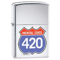 420 Four Twenty Cannabis Appreciation Day Novelty Zippo Lighter