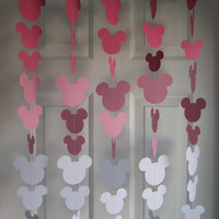 Mouse Style Party Decorations, Birthday Party, Disney Party, Girl Birthday party Decoration, Paper Garland