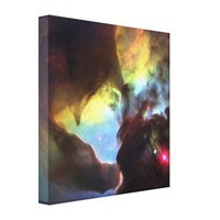 Giant twister in the Lagoon Nebula Stretched Canvas Print from Zazzle.com
