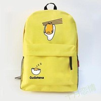Anime gudetama Cos 2017 new college wind cartoon men and women leisure large capacity backpack travel package