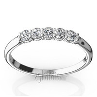 anniversary band with 0.25ct total diamond weight.