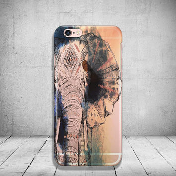 Boho iPhone 6 Case Elephant Clear iPhone 6s Case Transparent iPhone 6 Plus Case iPhone 5/ 5s/ SE Case Soft Silicone iPhone Case