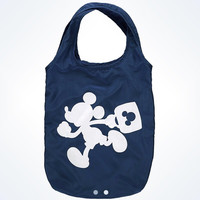disney parks TAG collection mickey blue fold-up tote bag new with tags