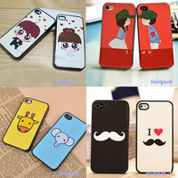 Lovers/Couple's Cute Lovely Hard Back Case Cover For iPhone 4 4G 4S