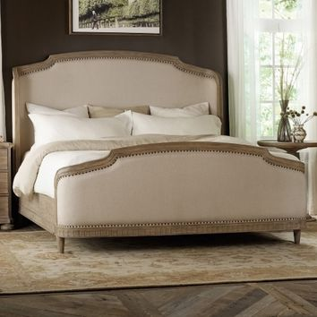 Corsica Wingback Upholstered Shelter Bed - Wire Brushed Artisan | www.hayneedle.com