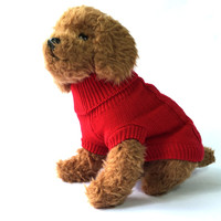 Red Knit Dog Sweater