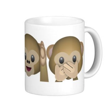 Three Wise Monkeys Emoji Coffee Mug