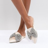 Blue By Betsy Johnson Embellished Flat Mules at asos.com