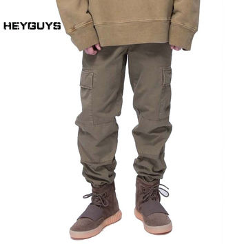 fashion loose Long Pant Men cargo  pants Baggy Jogger Trousers Fashion Fitted Bottoms streetwear hiphop Pocket pant