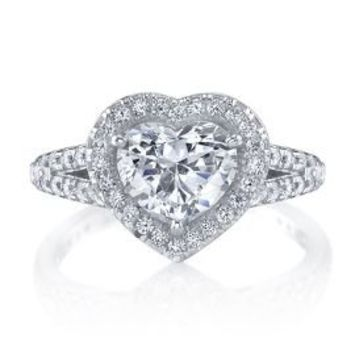 Diamonvita® 3 3/4 ct. tw. Heart Ring in Sterling Silver         -                Promise Rings         -                Rings         -                Jewelry         -                Categories                       - Helzberg Diamonds