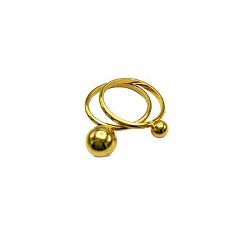 Small Orbita Double Gold Ring Stack