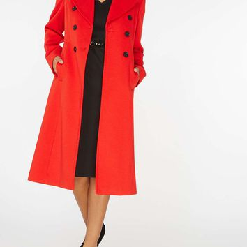 Red Double Breasted Coat | Dorothyperkins