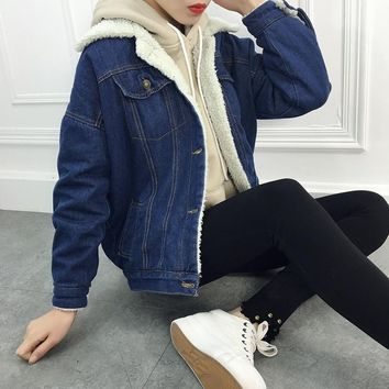 Trendy ZOGAA S-2XL Women Jacket Coats Denim Jeans Jacket Thick Warm Clothes Solid Autunm Winter Outerwear Cowboy Coat for Women AT_94_13