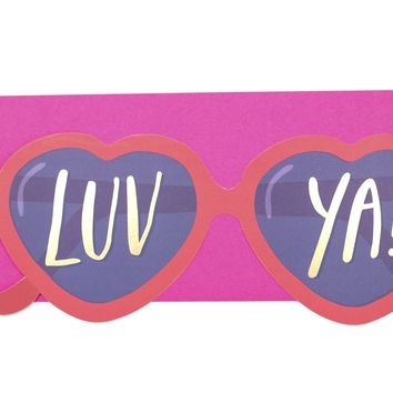 Heart Glasses Card